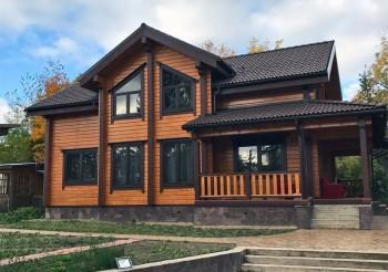 Дом из клеенного бруса в д. Агалатово>