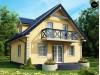 Проект одноэтажного дома с мансардой Z1 в классическом стиле