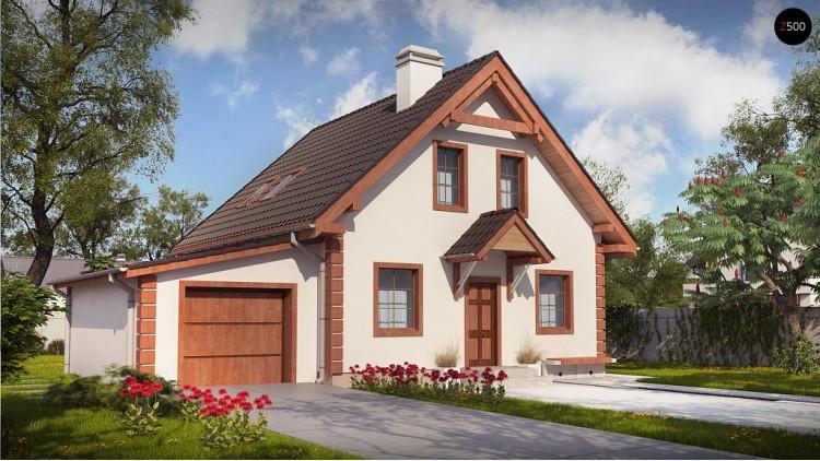 Проект Z1 GL Версия проекта Z1 с гаражом на одну машину.  Проекты домов и гаражей