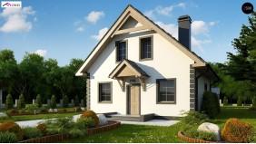 Проект Z1 bl Версия проекта дома Z1 без люкарен.  Проекты домов и гаражей