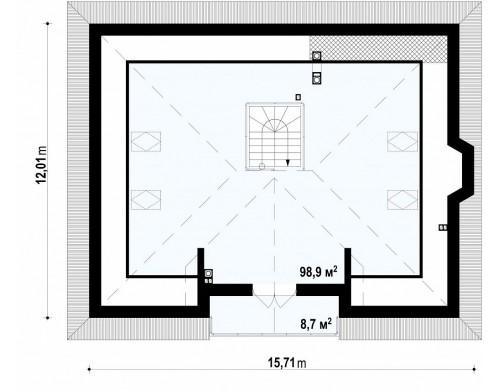 Комфортный дом с открытой мансардой в традиционном стиле (версия проекта Z10)