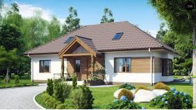Проект традиционного дома с возможностью адаптации чердачного помещения - Z106