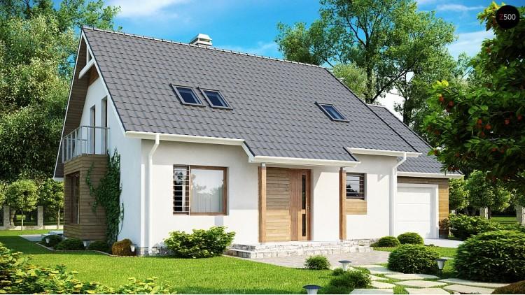 Проект функционального и удобного дома с комнатой над гаражом - Z108