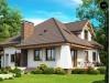 Проект двухэтажного дома в классическом стиле с красивыми мансардными окнами и балконом - Z109