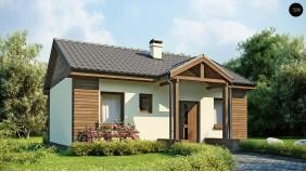 Недорогой проект одноэтажного дома с двускатной кровлей, недорогой в строительстве и эксплуатации.