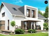 Проект стильного комфортного дома современного дизайна со встроенным гаражом - Z116