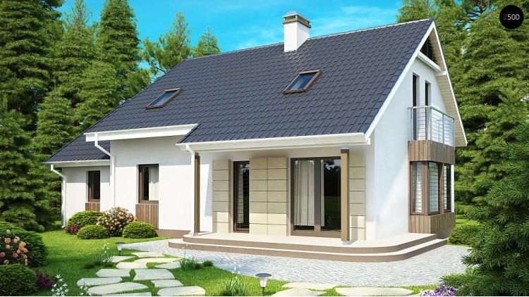 Проект выгодного в строительстве и эксплуатации дома с дополнительной спальней на первом этаже - Z120
