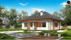 Проект Z121 A Версия проекта Z121 с измененной планировкой.  Проекты домов и гаражей