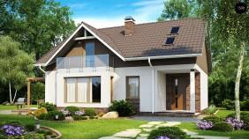 Проект Z128 dk Проект дома с мансардным этажом, измененный под каркасную технологию строительства  Проекты домов и гаражей