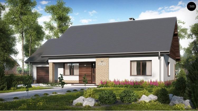 Проект традиционного одноэтажного дома с возможностью обустройства мансарды - Z131