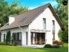 Проект стильного комфортного дома с гаражом и оригинальным мансардным окном - Z132