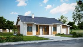 Проект Z136 GP Версия проекта Z136 с гаражом.  Проекты домов и гаражей