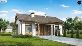Проект Z136 minus Проект одноэтажного дома с приятным дизайном  Проекты домов и гаражей