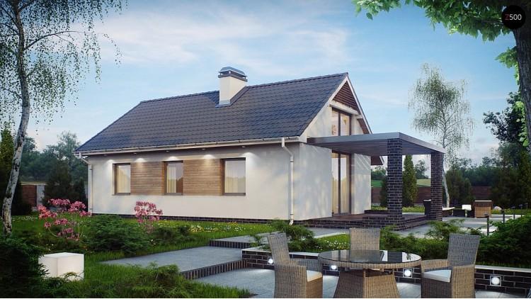 Проект маленького и функционального одноэтажного дома. Выгодный в строительстве и эксплуатации - Z139