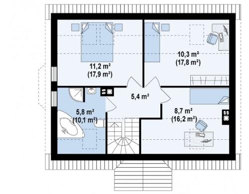 Проект Z14 w Версия проекта Z14 c боковым эркером  Проекты домов и гаражей