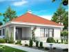 Проект компактного и функционального одноэтажного дома с фронтальным расположением дневной зоны - Z141
