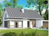 Проект комфортного дома с мансардой, с гостиной во фронтальной части дома и гаражом на две машины - Z142