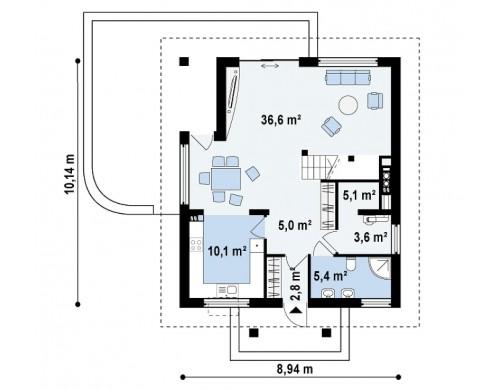 Проект практичного и уютного традиционного дома - Z145