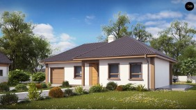 Проект Z15 GL Версия проекта Z15 со вcтроенным гаражом с левой стороны.  Проекты домов и гаражей