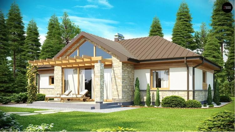 Проект функционального компактного дома интересного дизайна - Z151