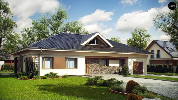 Проект Z153 Проект просторного одноэтажного дома с 4 спальнями.  Проекты домов и гаражей