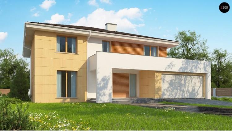 Проект Z156 A Проект комфортабельного двухэтажного коттеджа современного дизайна  Проекты домов и гаражей
