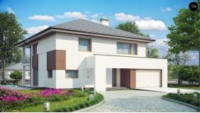 Проект Z156 Элегантный комфортабельный двухэтажный дом с современными элементами архитектуры.  Проекты домов и гаражей