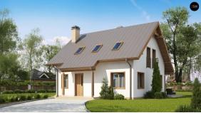 Проект Z162 v3 Один из вариантов проекта мансардного дома Z162 V3  Проекты домов и гаражей