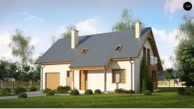 Проект Z162 GL Вариант типового проекта Z162 c гаражом для одной машины  Проекты домов и гаражей