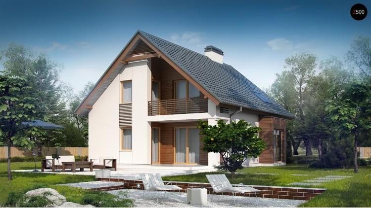 Проект дома с дополнительной комнатой на первом этаже и эркером в обеденной зоне - Z166