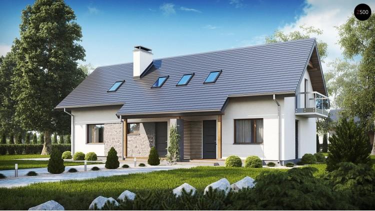Простой и функциональный двухсемейный дом с отдельными входами - Z184