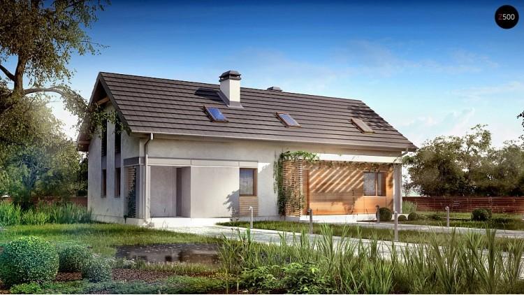 Проект двухквартирного дома с отдельными входами в каждую из них - Z187