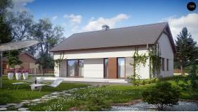 Компактный одноэтажный дом простой формы с возможностью обустройства чердачного помещения - Z191