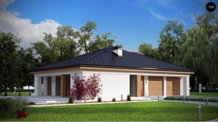 Проект одноэтажного дома с четырьмя спальнями и гаражом - Z196