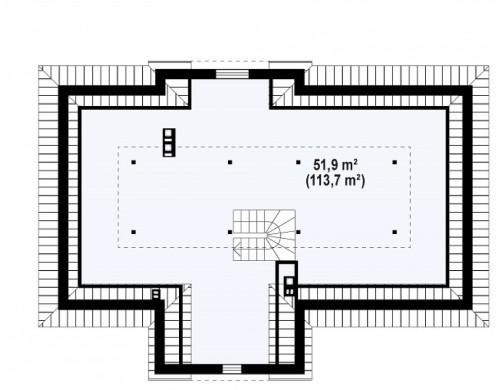 Проект Z2 L + w Зеркальный вариант увеличенного дома Z2  Проекты домов и гаражей