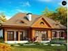 Проект просторного дома в стиле старинной усадьбы с необычными мансардными окнами и крытой террасой - Z20