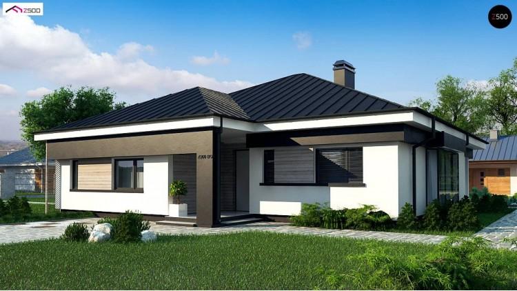 Проект Z200 BG Версия проекта Z200 без гаража, с изменениями в планировке.  Проекты домов и гаражей