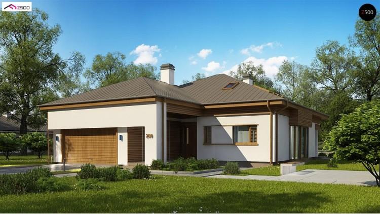Проект Z200 P Вариант проекта z200 c мансардой  Проекты домов и гаражей