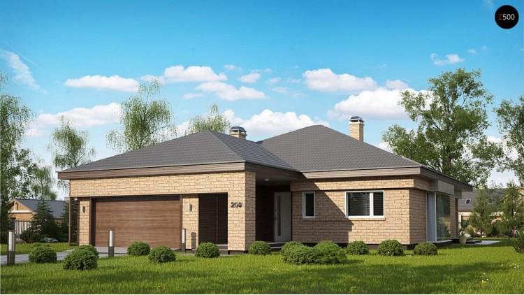 Проект Z200 k Вариант проекта Z200 с кирпичной облицовкой фасадов.  Проекты домов и гаражей