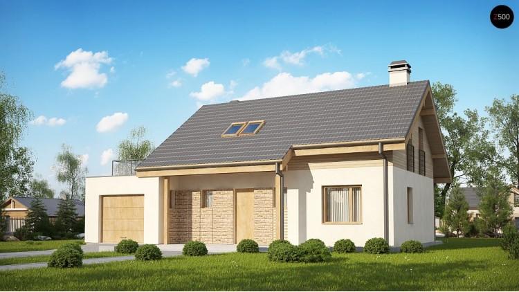 Проект Z210 GLt Версия проекта Z210 c гаражом, с альтернативной планировкой.  Проекты домов и гаражей