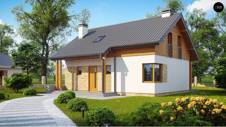 Проект дома Z210 с увеличенной площадью котельной.