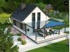 Проект Z211 v2 tz Дом с мансардным этажом и большой террасой  Проекты домов и гаражей