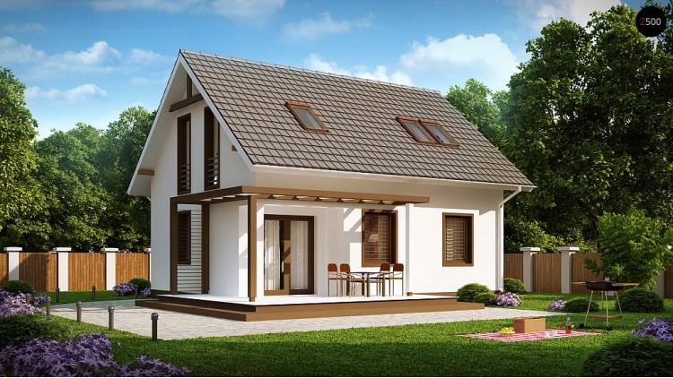 Проект стильного дома с дополнительной спальней на первом этаже - Z212