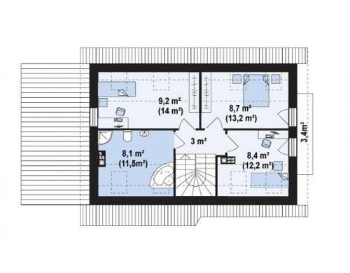 Проект Z216 + Увеличенная версия проекта Z216.  Проекты домов и гаражей