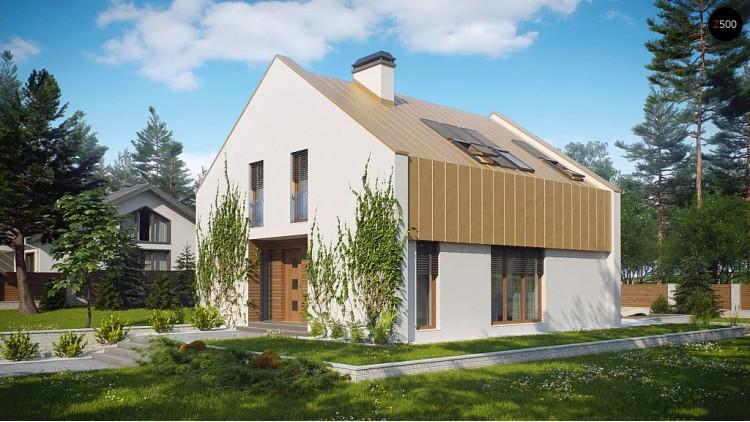 Проект современного дома, экономичный в строительстве и эксплуатации - Z218
