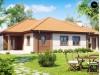 Проект комфортного одноэтажного дома с гаражом, с многоскатной крышей - Z22