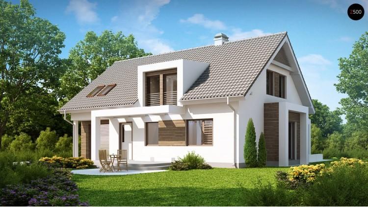 Проект дома с современными архитектурными элементами. Практичный и уютный интерьер - Z236