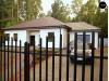 Проек практичного одноэтажный дом с многоскатной кровлей и угловым окном в кухне - Z24