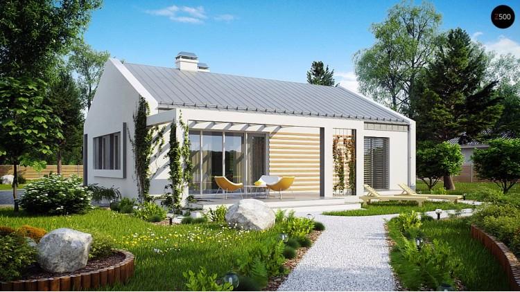 Проект простого и недорогого в строительстве энергосберегающего дома современного дизайна - Z251