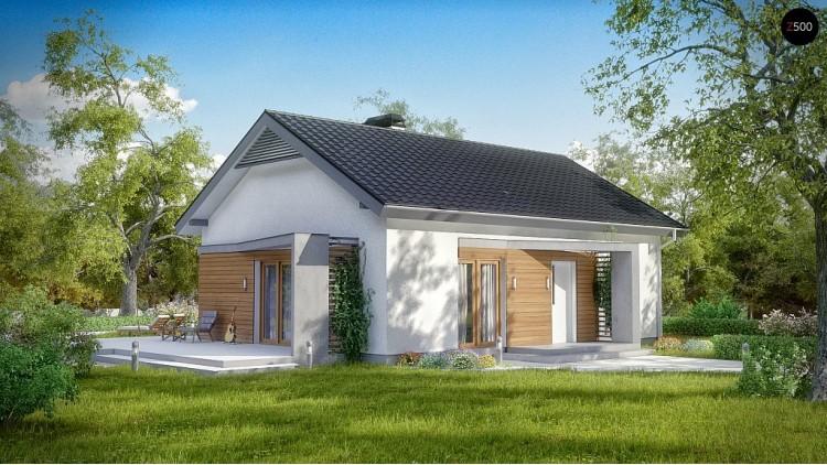 Проект современного одноэтажного дома - Z255